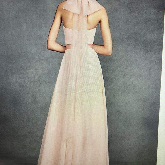 Vera Wang Dresses & Skirts - Vera Wang  White halter-full length dress in black